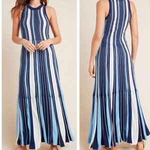 Anthropologie Striped Maxi Dress